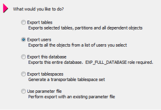 Export users