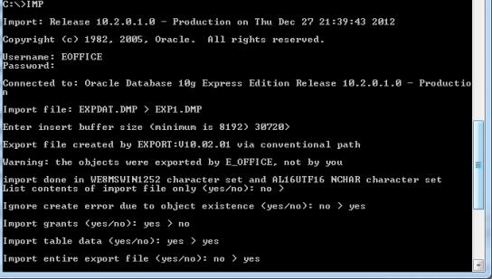 Import DMP files